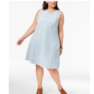 Style & Co Plus Size Cotton Swing Dress 22W